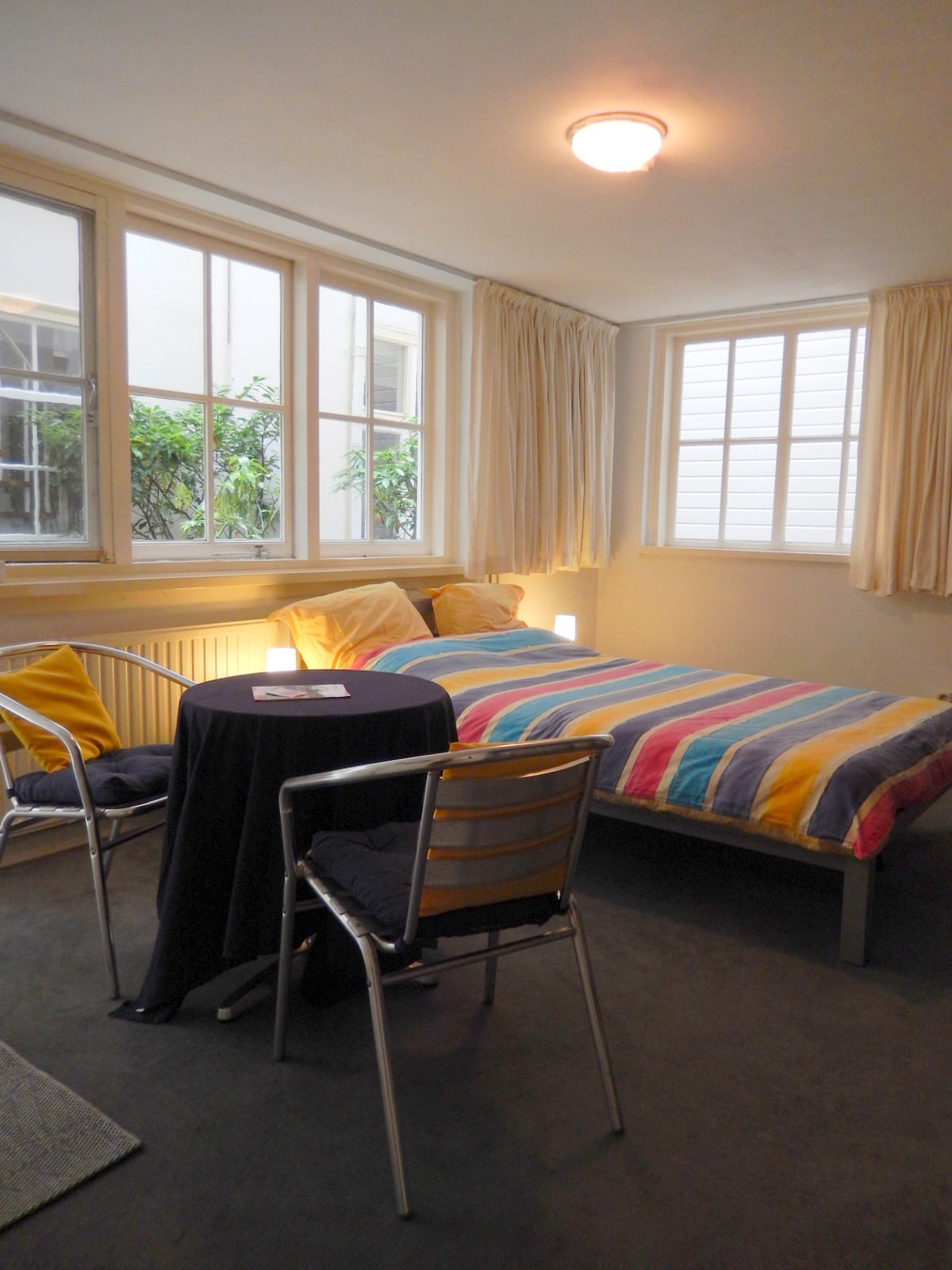 With a very comfortable double  bed and all the 'necessary' mod cons (Wifi, cable television)