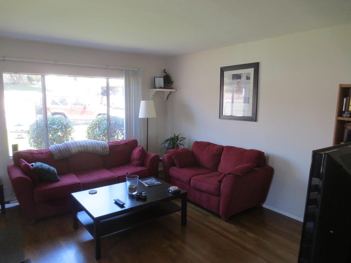 Shared living room.  Guests may use.