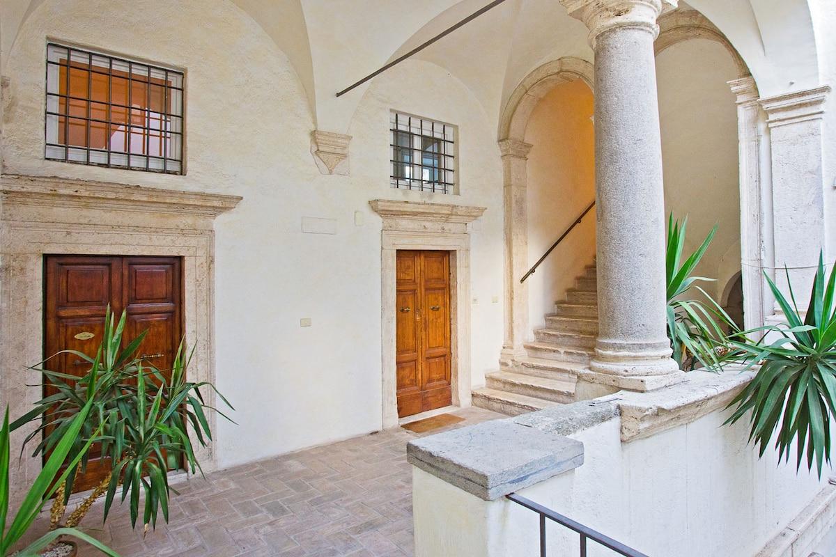 La Casa al Portico il loft a Roma.