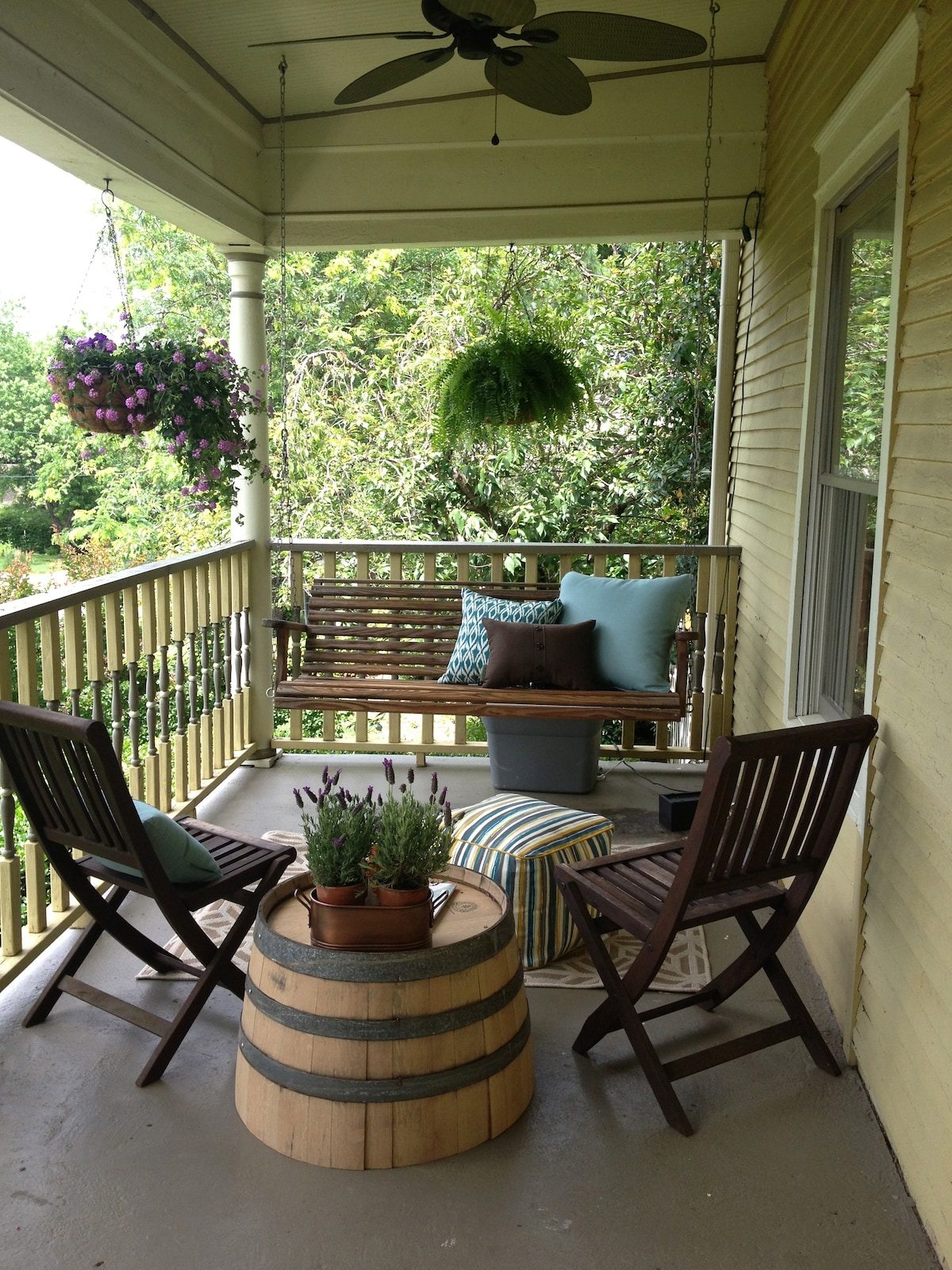 Front porch for a little tea drinking and people watching