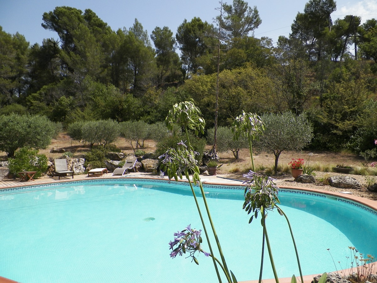 Villa in a private parc with pool
