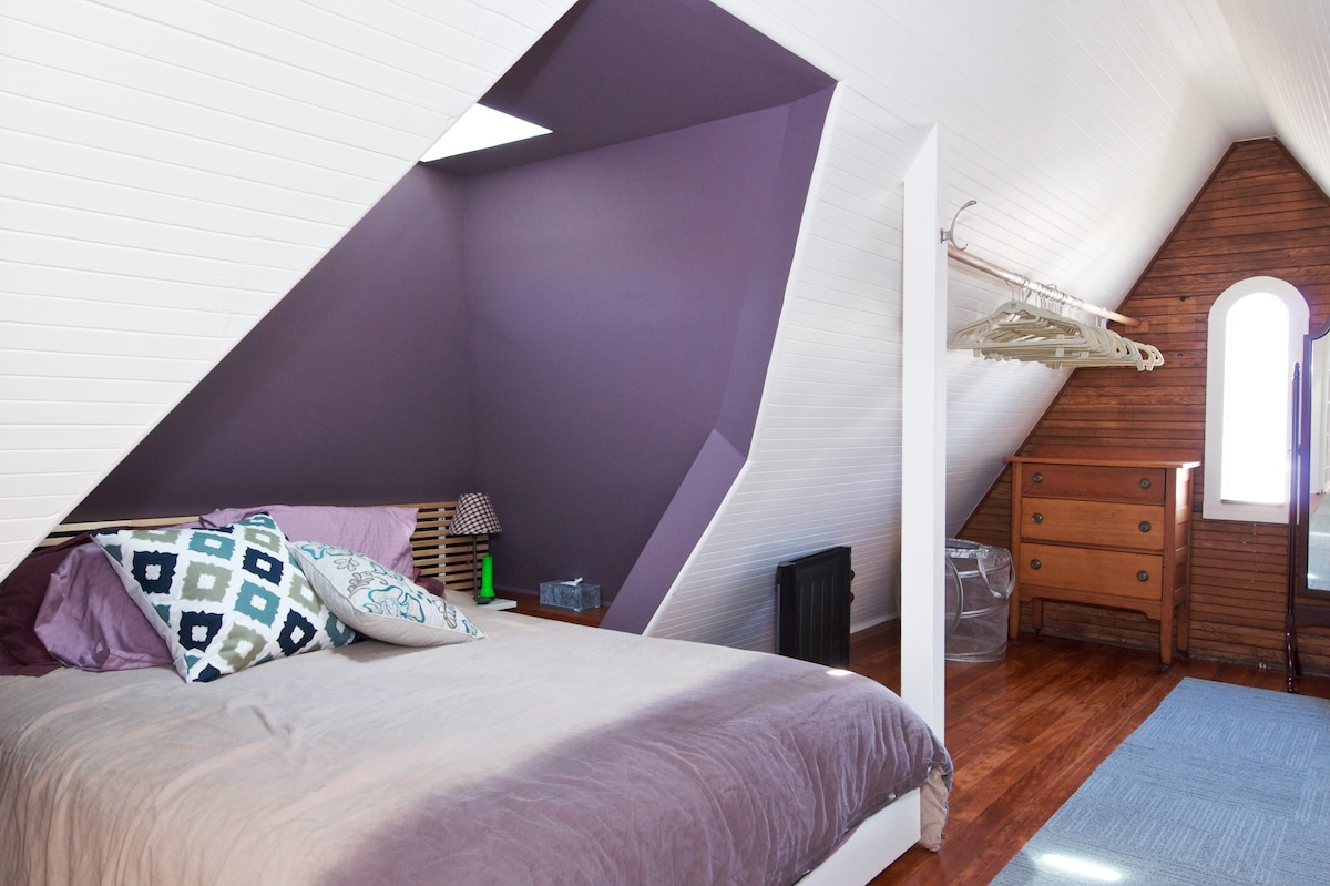 Welcome to the Attic Suite sleeping nook..an unusual (and comfortable) place to lay your head.