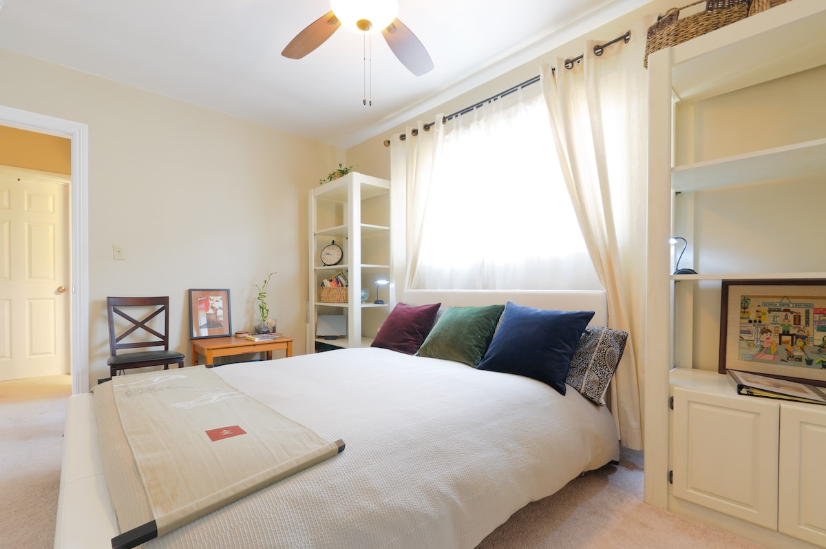 Roomy master bedroom is all yours to enjoy during your LA stay with wifi, closet space and privacy.