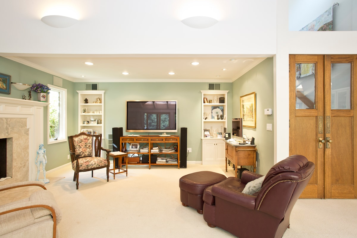 Open living Area.  (If your are renting our 2 bedroom home.)