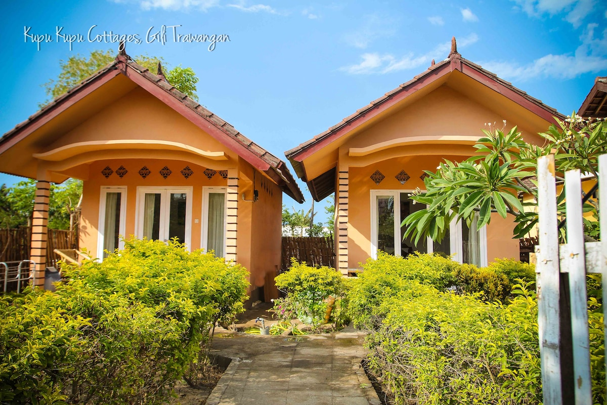 Selamat Datang and Welcome to Kupu Kupu Cottages on the tropical island of Gili Trawangan.