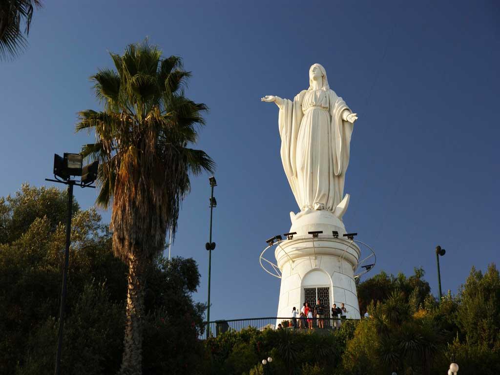 Cerro San Cristobal, Santiago, Chile . Recommended Tourist spot