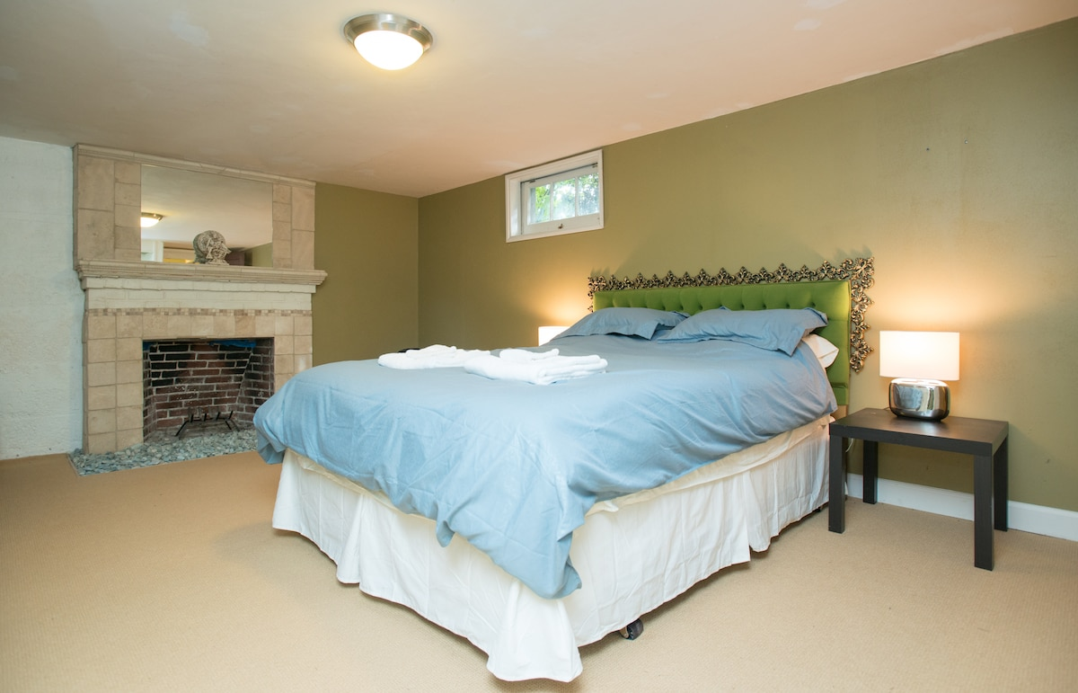 Master bedroom on the lower level, boasts its own private bathroom!