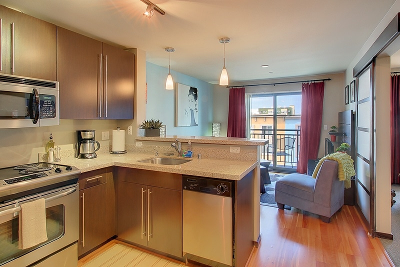 Open floor plan making an excellent Oasis in the city of Seattle!