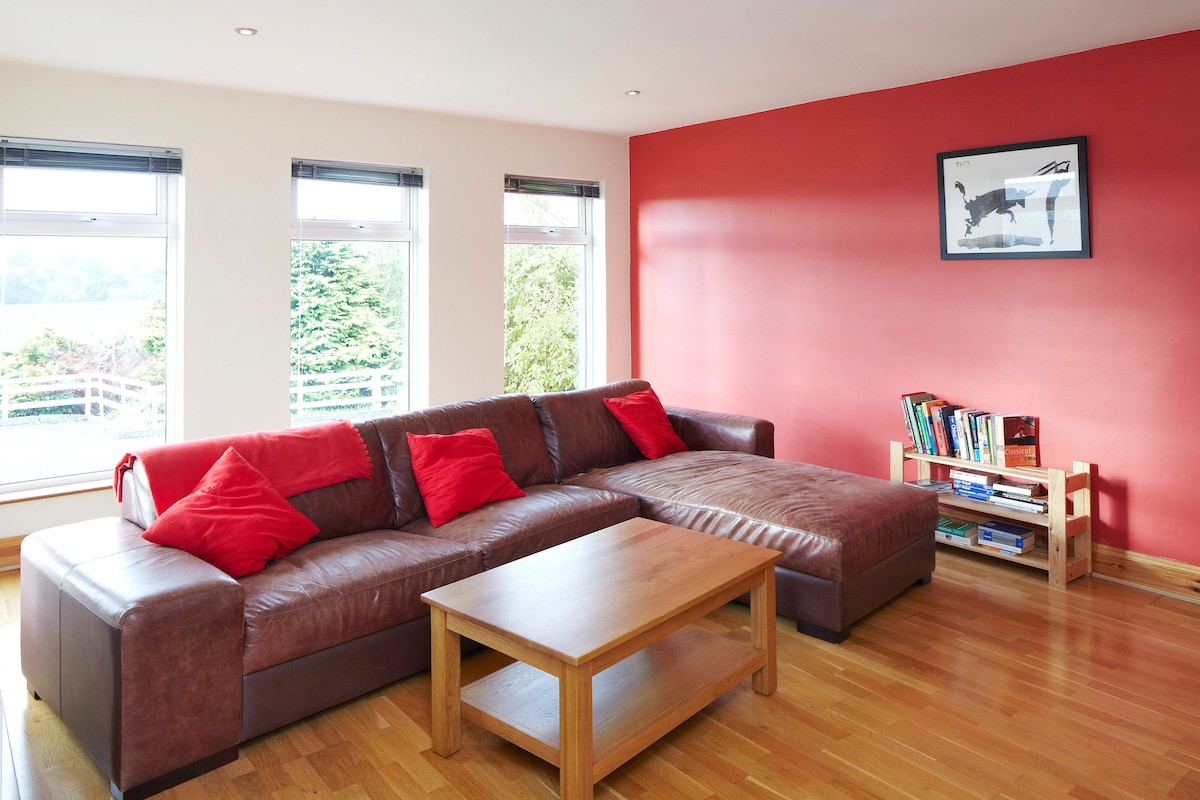 Living Room with view of Blarney Castle