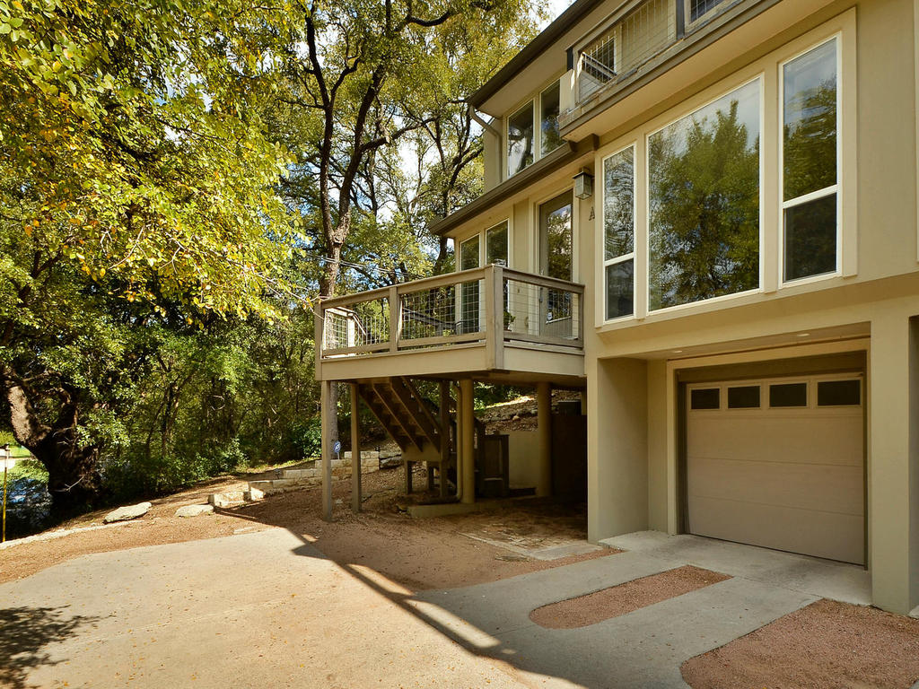 The home is nestled in trees providing for great privacy.