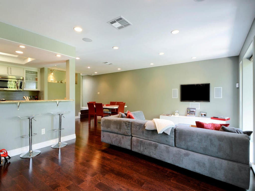 We have an open designed home perfect for enjoying everyone's company.