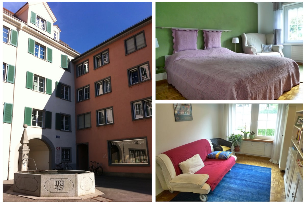 Two private rooms in the inner city of Chur.