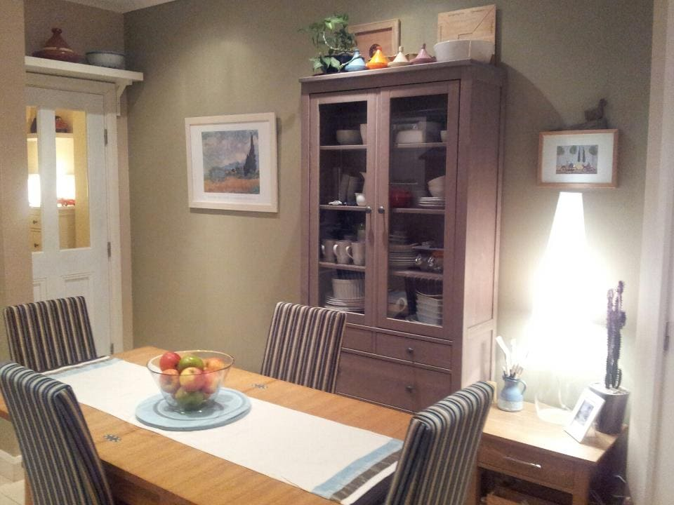 Our dining table in our kitchen.
