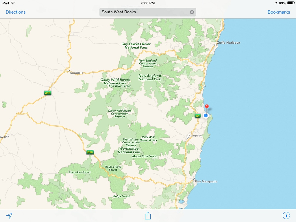 Look closer, we are 1 hour's drive to Port Macquarie (sth) and 1 hour to Coffs Harbour (nth) along the Pacific Highway.