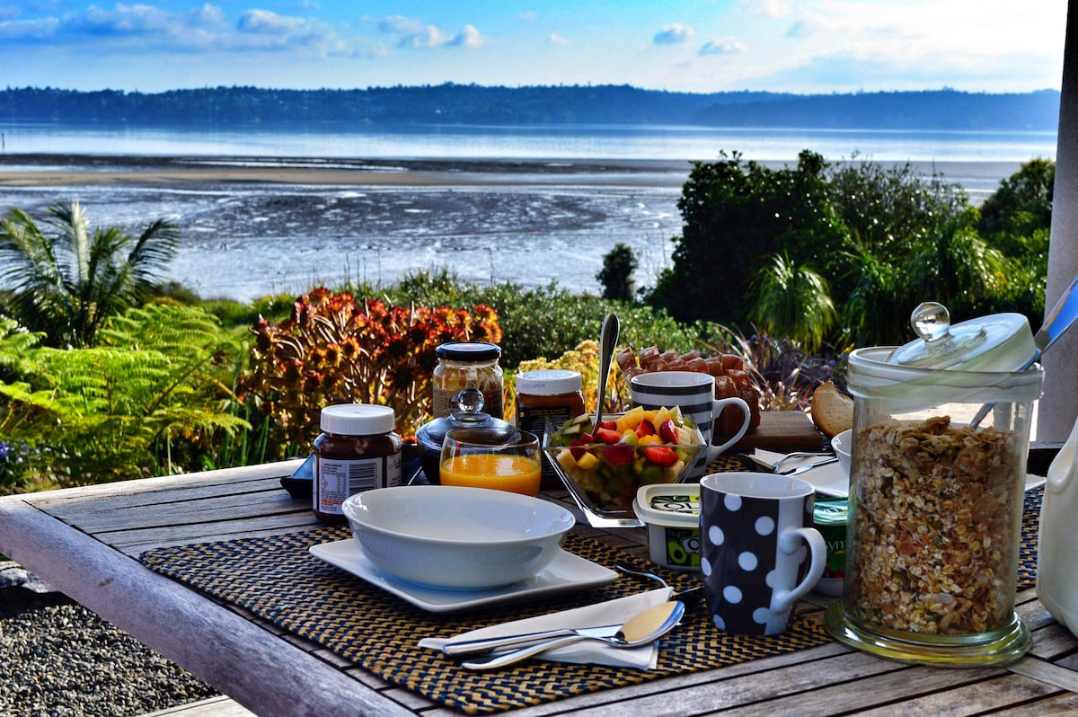 Breakfast out on the deck, weather permitting