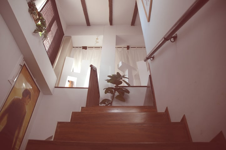 Modern attic in Madrid city center