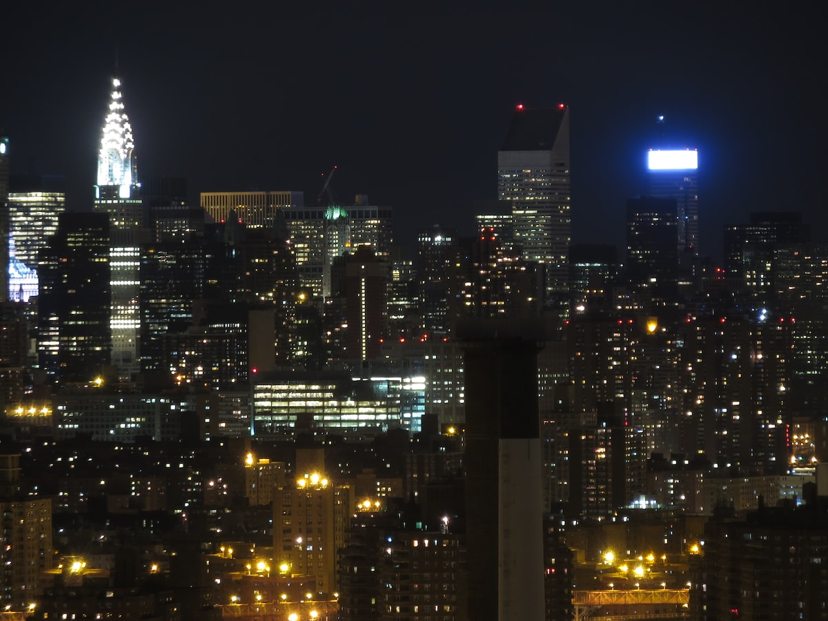 Amazing views of midtown - Chrysler Building, Rockefeller Center, Citicorp Building, United Nations all in plain view!
