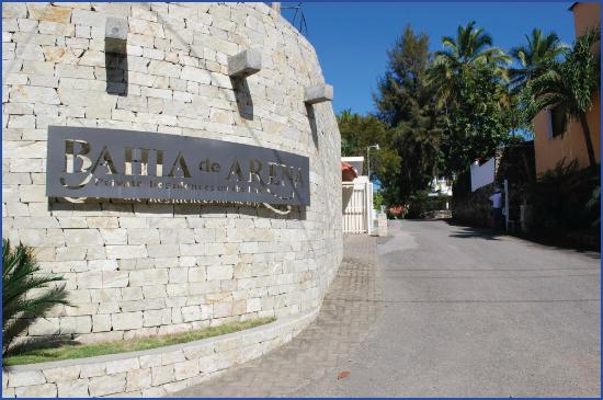 Roadside entrance to Bahia de Arena, or BDA, our secure private community of beachside villas.  BDA security is staffed 24 hours at each entrance.