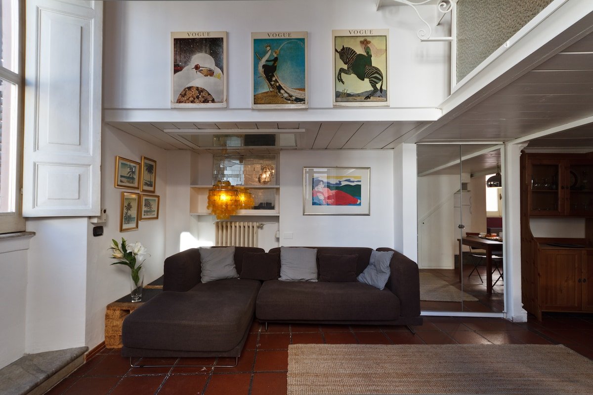 The living area of the Loft