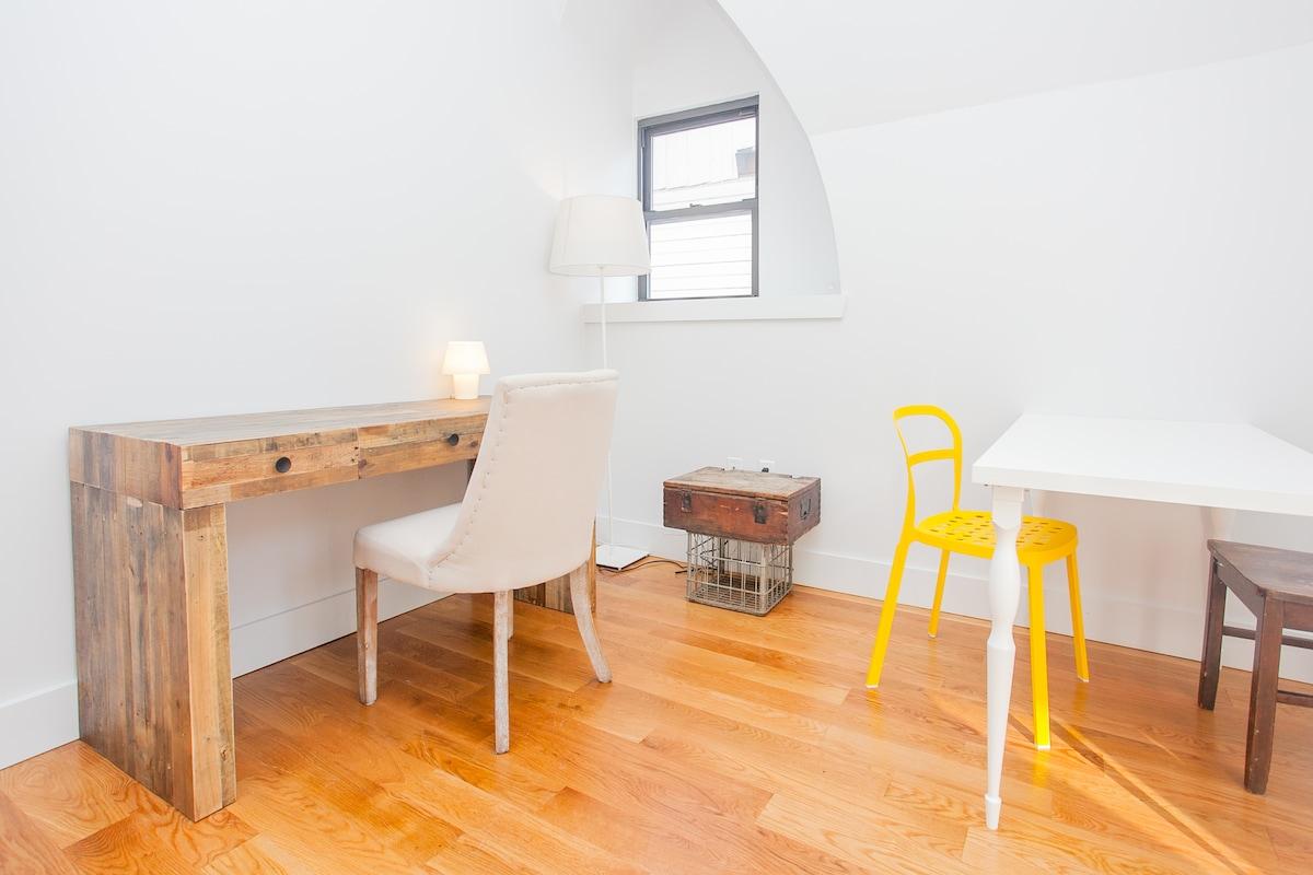 Rustic furniture meets hip design elements
