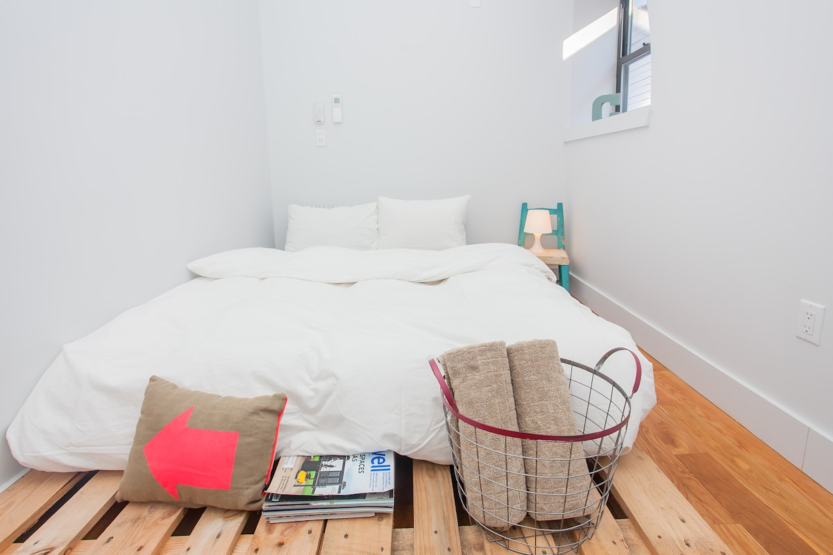 This is your bedroom: cozy, comfortable and clean