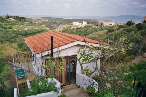 The Chalet Studio with an unobstructive view of olive orchards , the Mediterranean Sea , and Dia Island  !