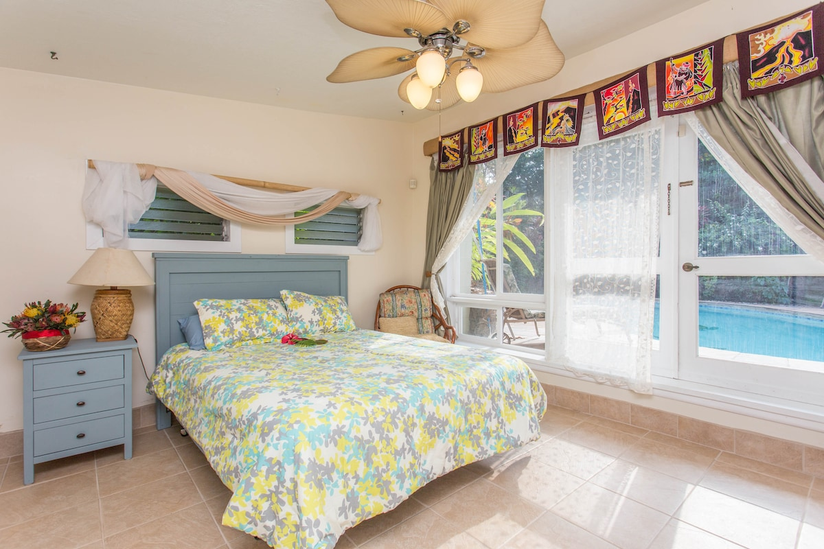 Master Bedroom opens to the pool