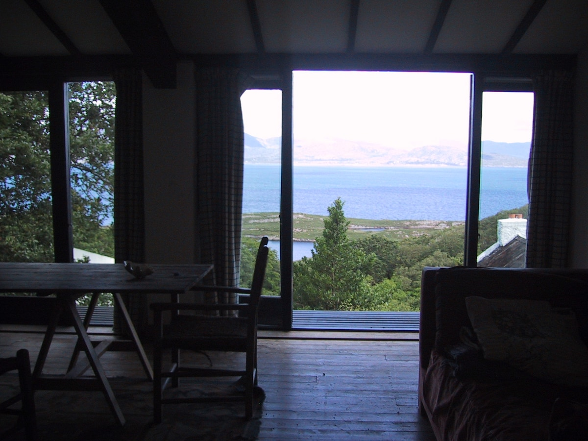 looking out from the studio across the bay