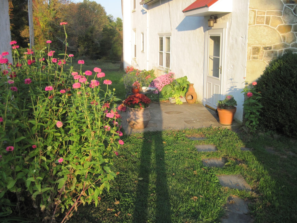 Back entry during the summer.