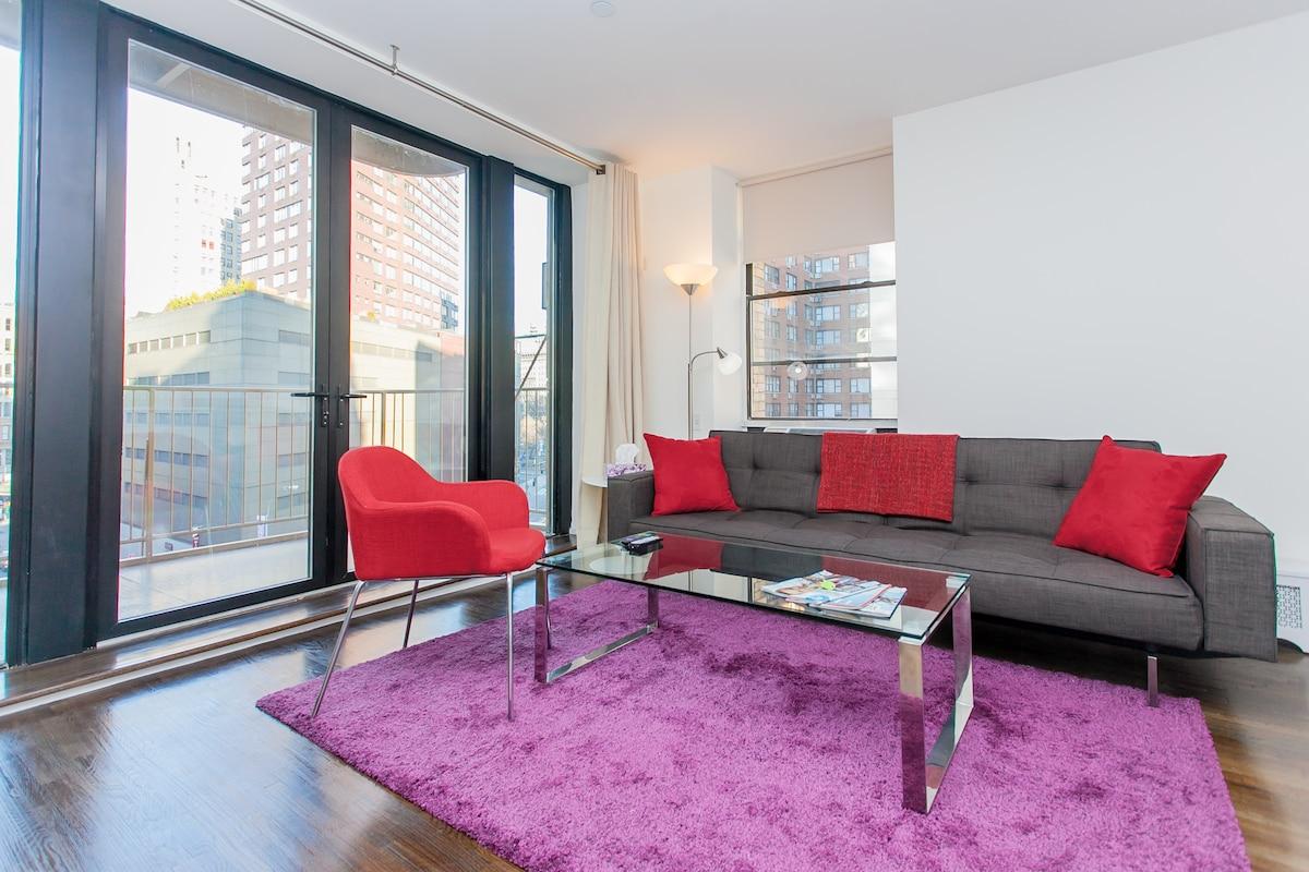 Modern living room featuring Innovation sleeper sofa