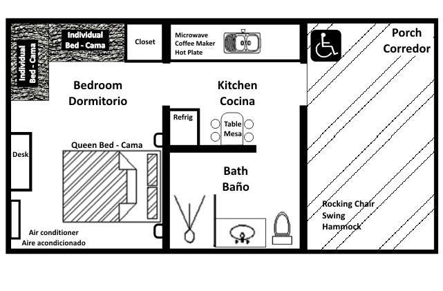Mariposa Casita floorplan (Casita2)