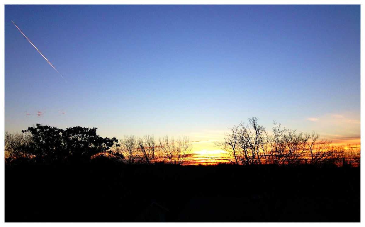 morning view from the balcony