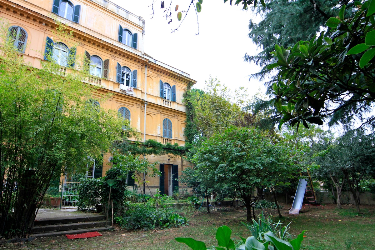 Frascati with a  gorgeous garden