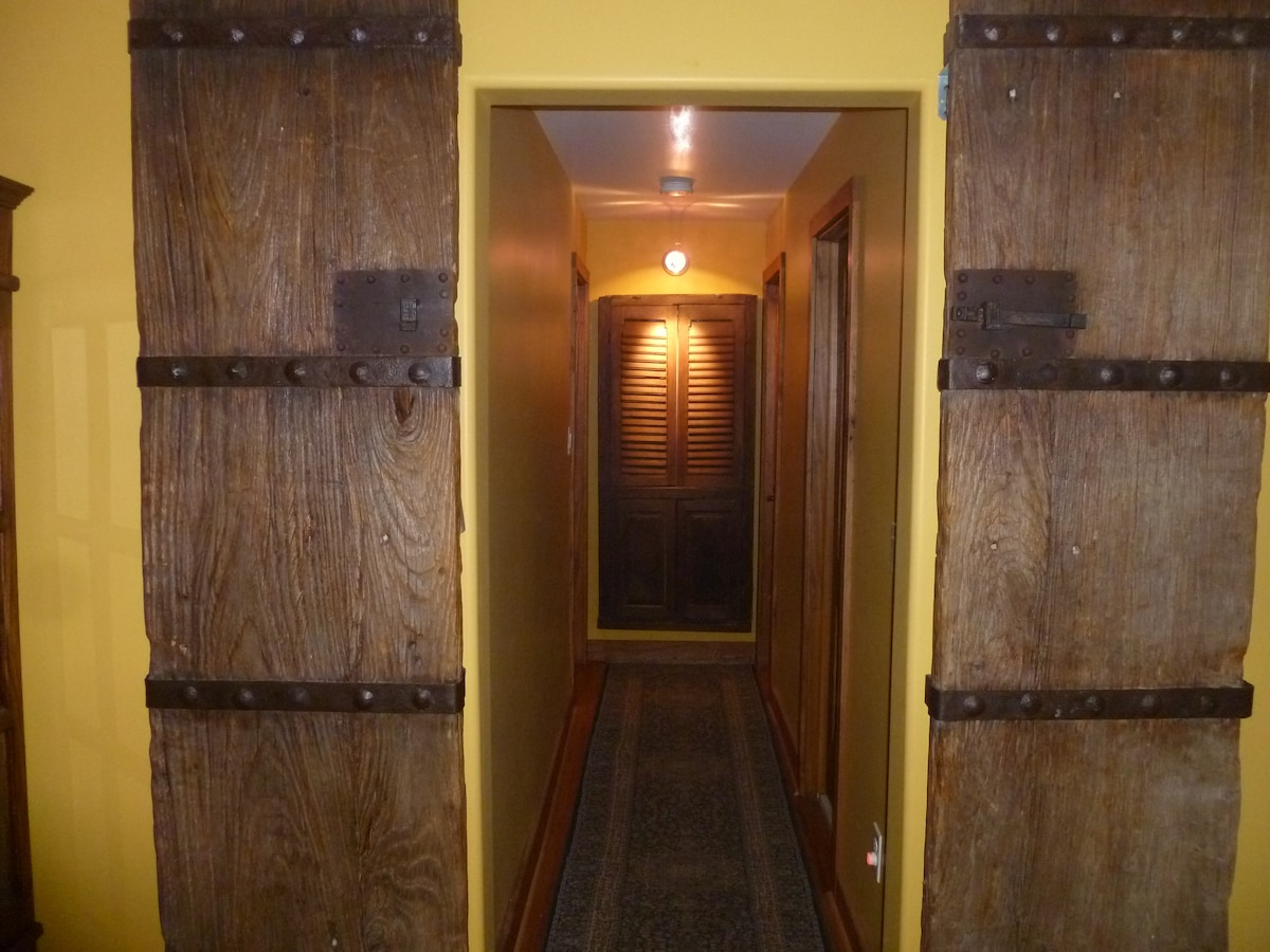 100 Year Old Solid Wood Doors lead the way to Bedroom Accommodations
