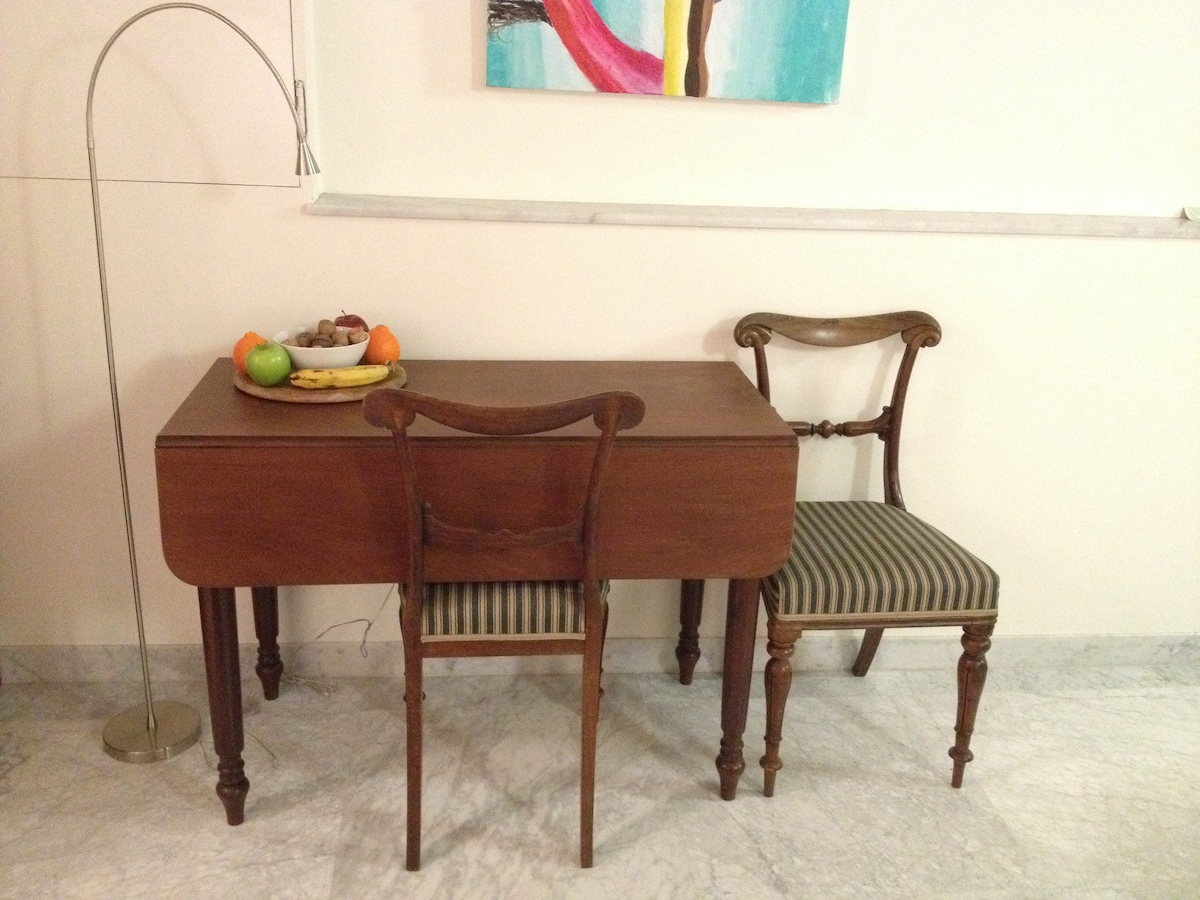 Table/desk and 2 self restored chairs