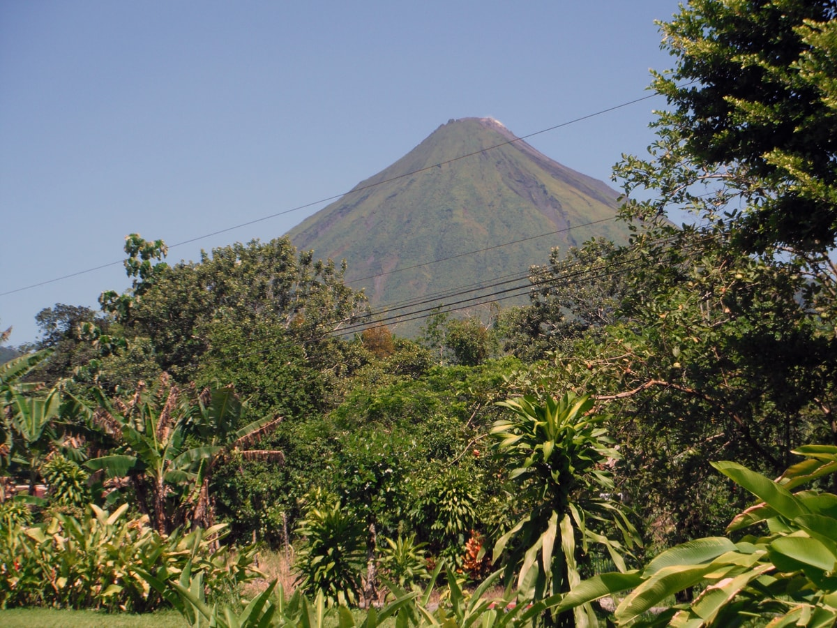 View of Arenal Volcano from Cabinas La Catarata