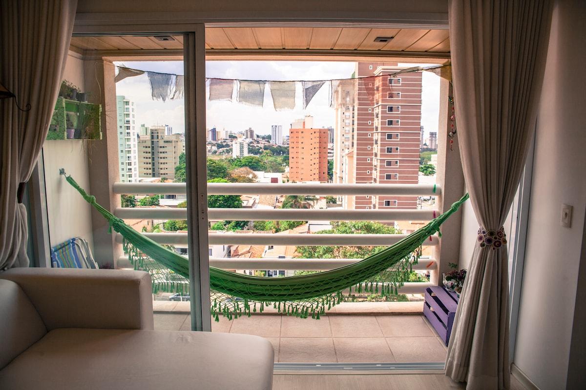 Balcony with hammock!