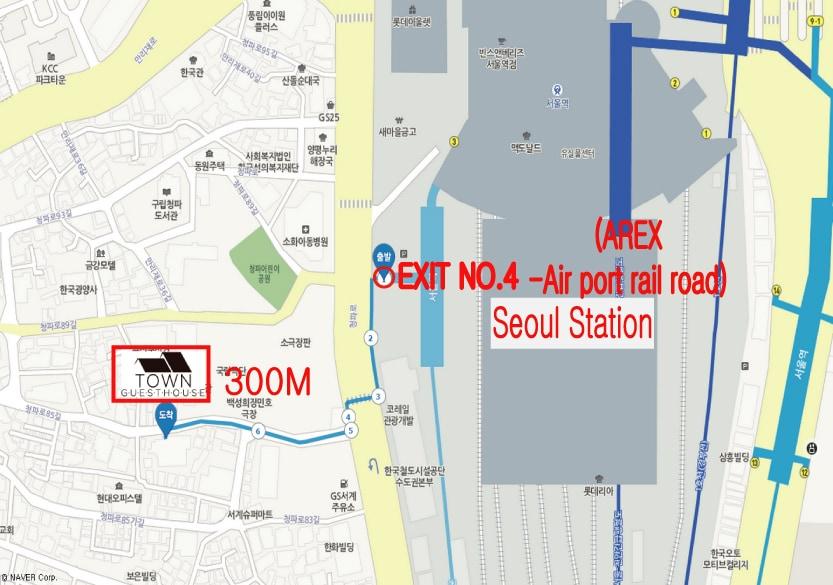 Just 5 mins walking distance to Seoul Station