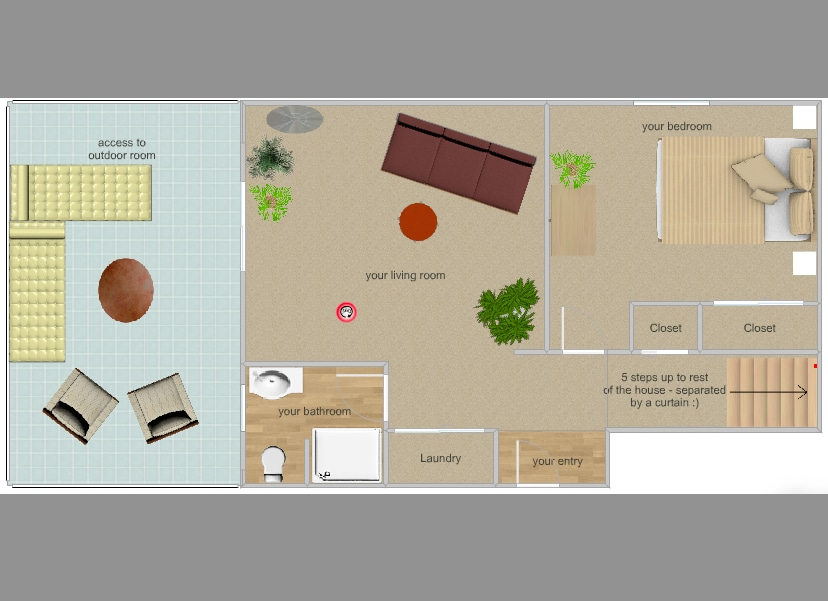 layout of your space in the house