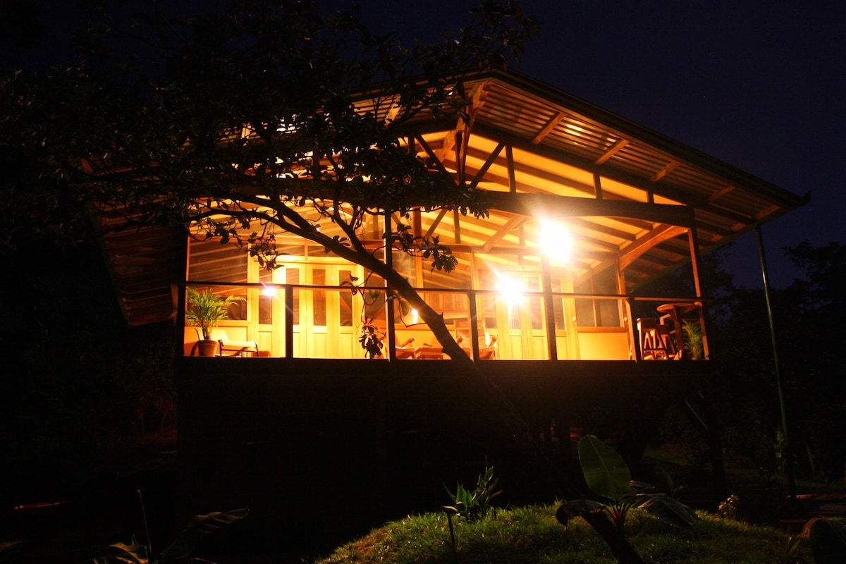 The home at night