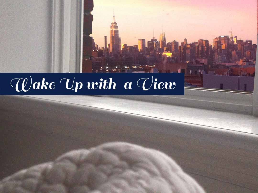 Wake up to Empire State views, hop out of bed, and be there in minutes.