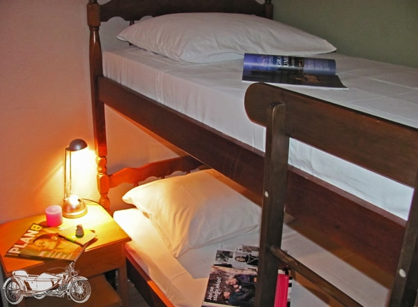 Four-bed room with bunk beds :)