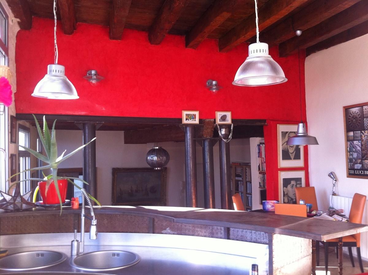 Bel appartement style loft 100 m2