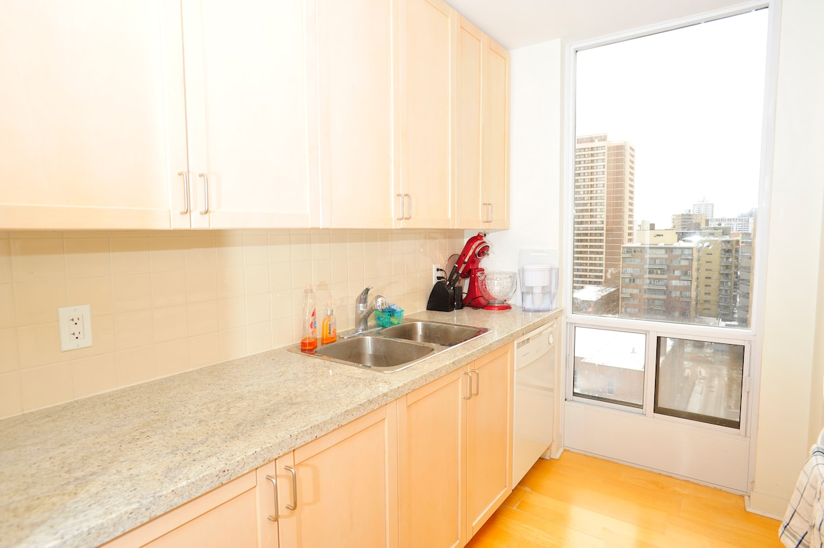 Kitchen counter and dishwasher