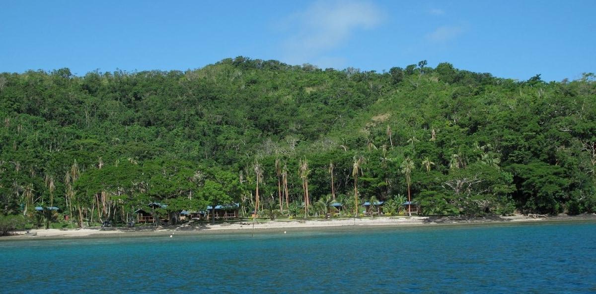 Approaching Sau Bay Fiji Retreat