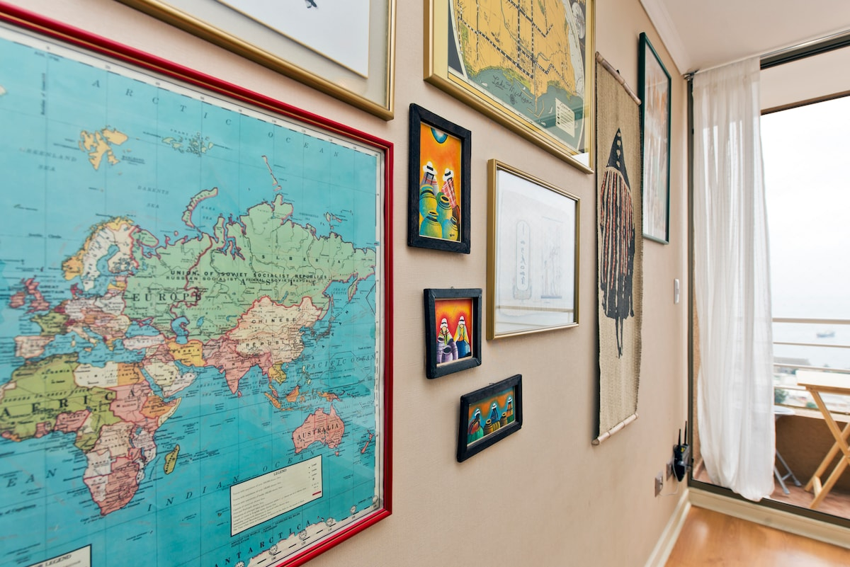 Our eclectic decor from all around the world