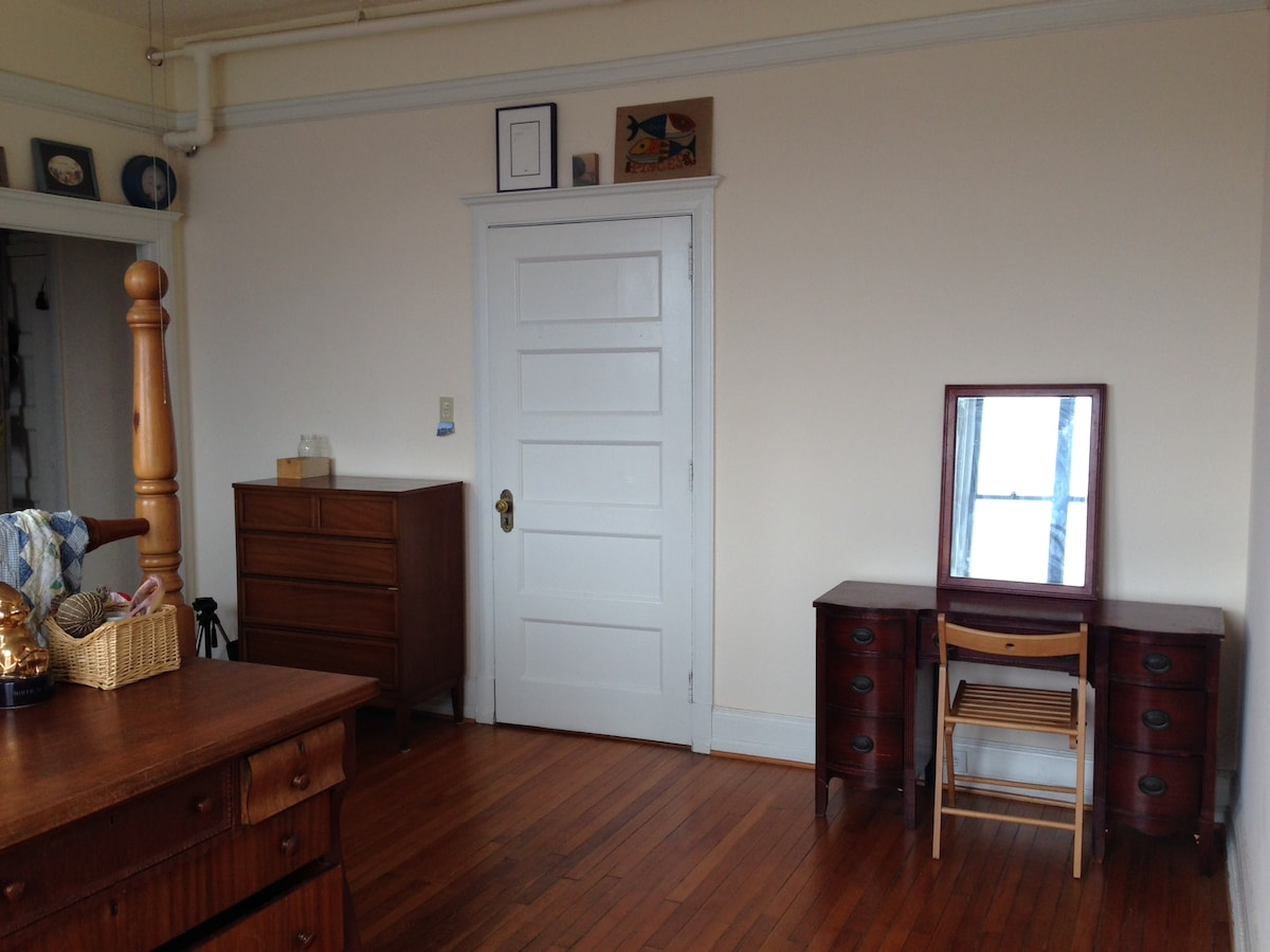 your room, you can use top drawers in dresser left of door (which exits to entrance hallway); desk
