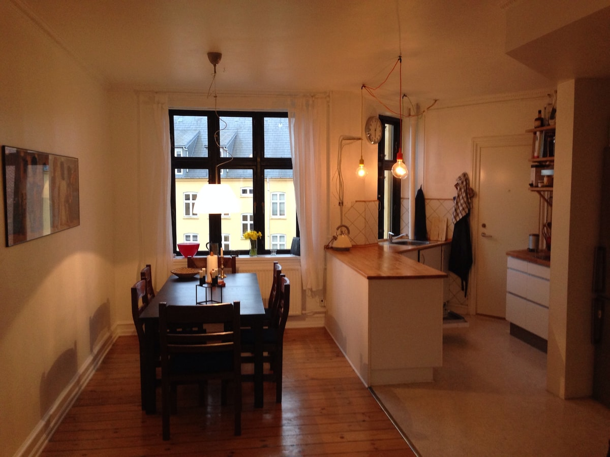 Spacious apartment in Central Cph