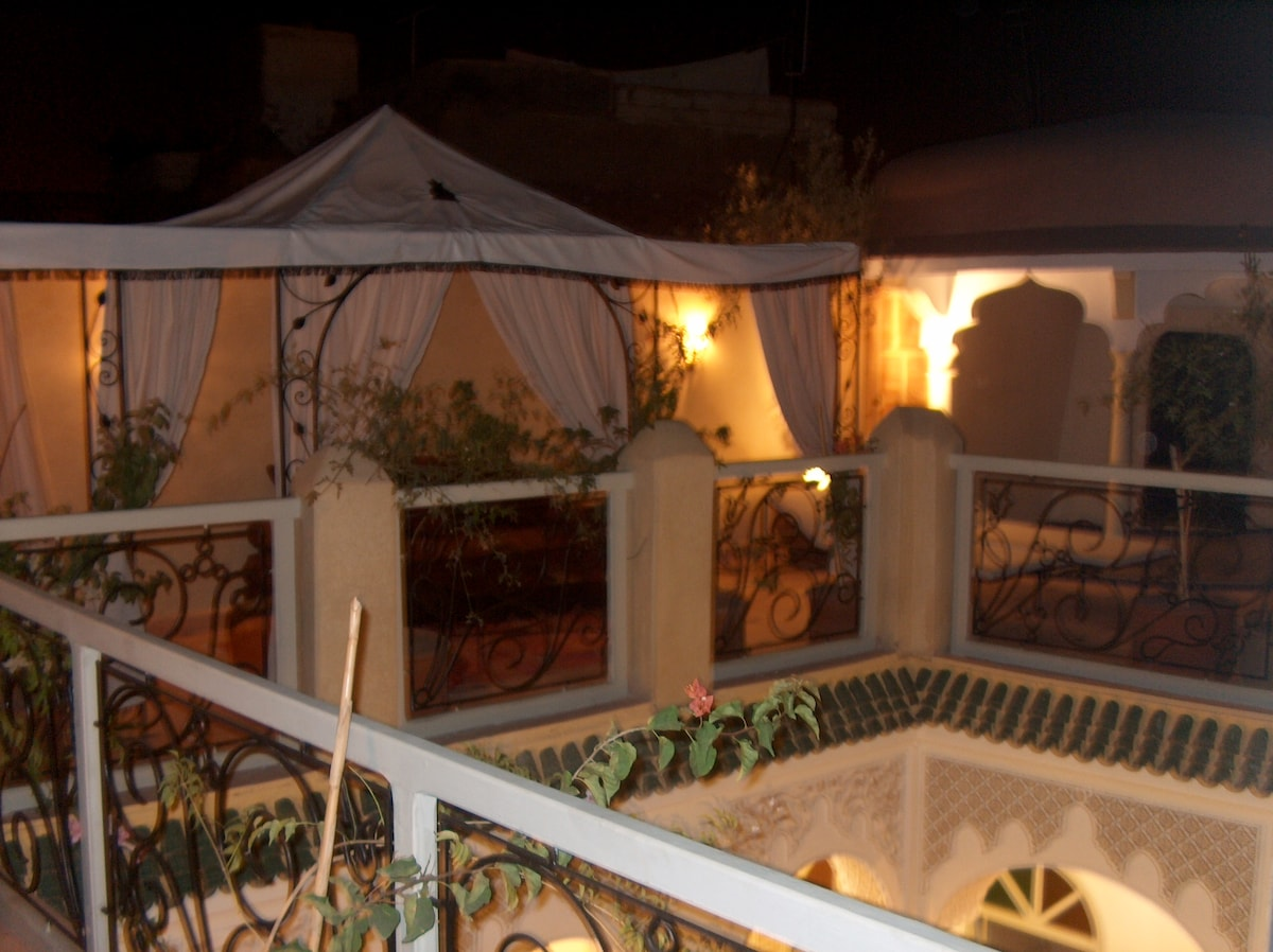 Our terrace by night