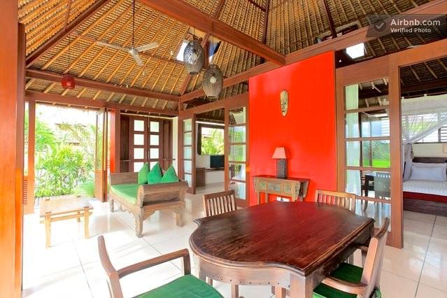 Bali Harmony Villas - Ubud - Gorgeous views to the rice fields from Villa Sungai